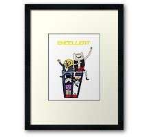 Finn and Jakes Excellent Adventure Time Framed Print