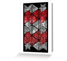 Red Triangle Stack Greeting Card