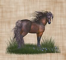 Horse in the Wild, tote, throw and tablet by LoneAngel
