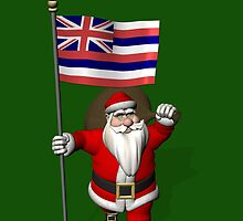 Santa Claus With Flag Of Hawaii by Mythos57