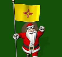 Santa Claus With Flag Of New Mexico by Mythos57