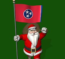 Santa Claus With Flag Of Tennessee by Mythos57