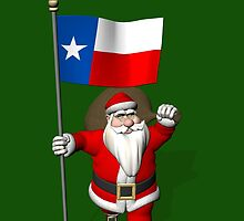 Santa Claus With Flag Of Texas by Mythos57