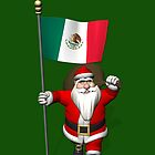 Santa Claus With Flag Of Mexico by Mythos57