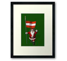 Santa Claus Visiting Of Austria Framed Print