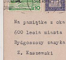 iphone case post card 1946 by Krzyzanowski Art
