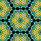 Psychedelic jungle kaleidoscope ornament 2 by Andrei Verner