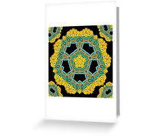 Psychedelic jungle kaleidoscope ornament 3 Greeting Card