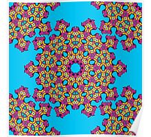 Psychedelic jungle kaleidoscope ornament 4 Poster