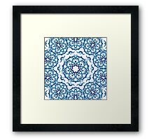 Psychedelic jungle kaleidoscope ornament 9 Framed Print