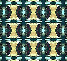 Textured Green Abstract Pattern by perkinsdesigns