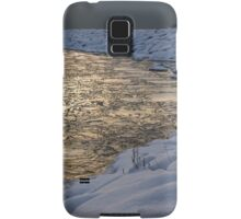 Lily Pad Ice Shines in the Silver Storm Light  Samsung Galaxy Case/Skin