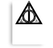 Bookly Hallows Canvas Print