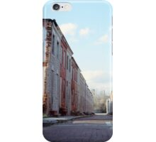 Boarded Up Rowhomes iPhone Case/Skin
