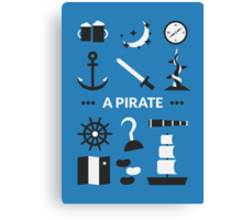 Once Upon A Time - A Pirate Canvas Print
