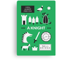 Once Upon A Time - A Knight Canvas Print