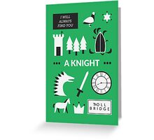 Once Upon A Time - A Knight Greeting Card