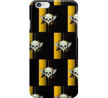 Wing Skull - YELLOW (Pattern) iPhone Case/Skin