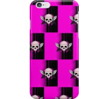 Wing Skull - PINK (Pattern 2) iPhone Case/Skin