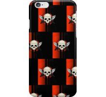 Wing Skull - ORANGE (Pattern) iPhone Case/Skin