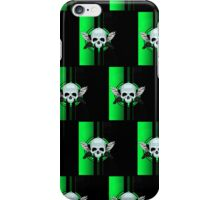 Wing Skull - GREEN (Pattern) iPhone Case/Skin