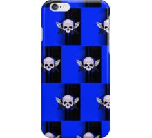 Wing Skull - BLUE (Pattern 2) iPhone Case/Skin