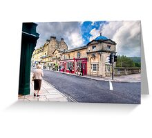 Shopping on Pulteney Bridge - Bath, England Greeting Card