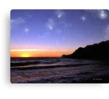 Star-Spangled Sunset Canvas Print