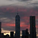 New York City - One World Trade Center - Sunset by Olivia Son