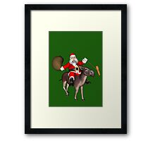Santa Claus Riding A Donkey Framed Print