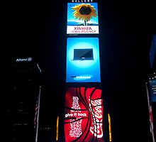 Times Square by Night - New York City by Olivia Son