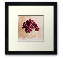 Grapes And Crystal Framed Print