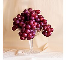 Grapes And Crystal Photographic Print