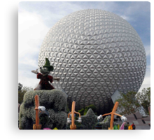 Sorcerer Mickey at Spaceship Earth Canvas Print