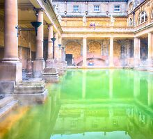 Ancient Roman Baths of Bath, England by Mark Tisdale