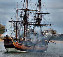 The Endeavour - Newcastle Harbour NSW Australia by Bev Woodman
