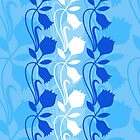 Layered Floral Silhouette Print (3 of 8 please see description) by Ra12