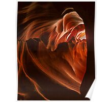 The heart of Antelope Canyon Poster