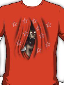 Peeking Foxy (with curtain stars) T-Shirt
