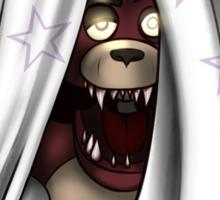 Peeking Foxy (with curtain stars) Sticker