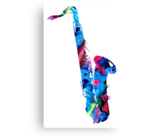 Colorful Saxophone 2 By Sharon Cummings Canvas Print