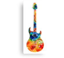Colorful Electric Guitar 2 - Abstract Art By Sharon Cummings Canvas Print