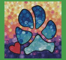 Puppy Love - Colorful Dog Paw Art By Sharon Cummings Kids Clothes