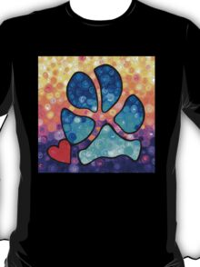Puppy Love - Colorful Dog Paw Art By Sharon Cummings T-Shirt
