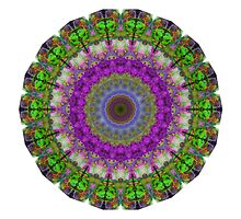 Soft Light - Kaliedescope Mandala By Sharon Cummings by Sharon Cummings