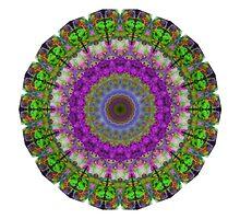 Soft Light - Kaliedescope Mandala By Sharon Cummings by Sharon Cummings