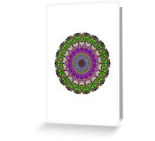 Soft Light - Kaliedescope Mandala By Sharon Cummings Greeting Card