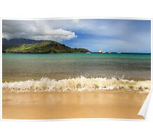 The Surf At Hanalei Bay Poster