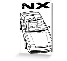 Nissan Pulsar NX Action Shot Greeting Card