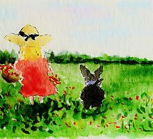 Picking Wild Flowers With Scottie Dog by archyscottie
